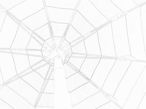 Sotto l'ombrellone, foto ed elaborazione di Marco Lazzari, immagine di pubblico dominio