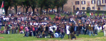 Protesta degli studenti a Bergamo, 9 ottobre 2010