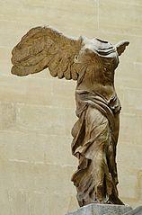 Foto di Nike di Samotracia, Museo del Louvre, immagine di pubblco dominio