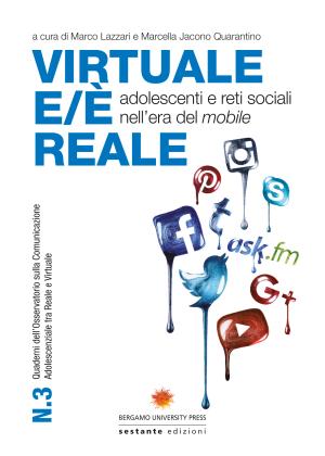 Copertina del volume Virtuale e/è reale, a cura di Marco Lazzari e Marcella Jacono Quarantno